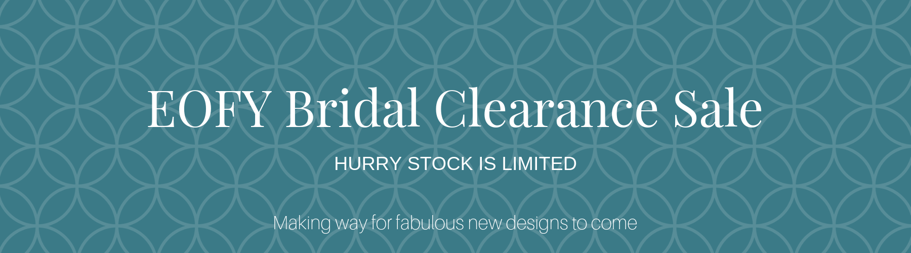 Bridal Clearance Sale