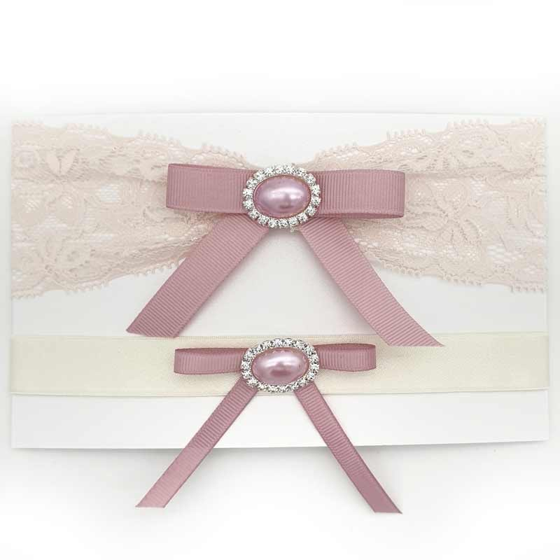 pale pink lace bridal garter set