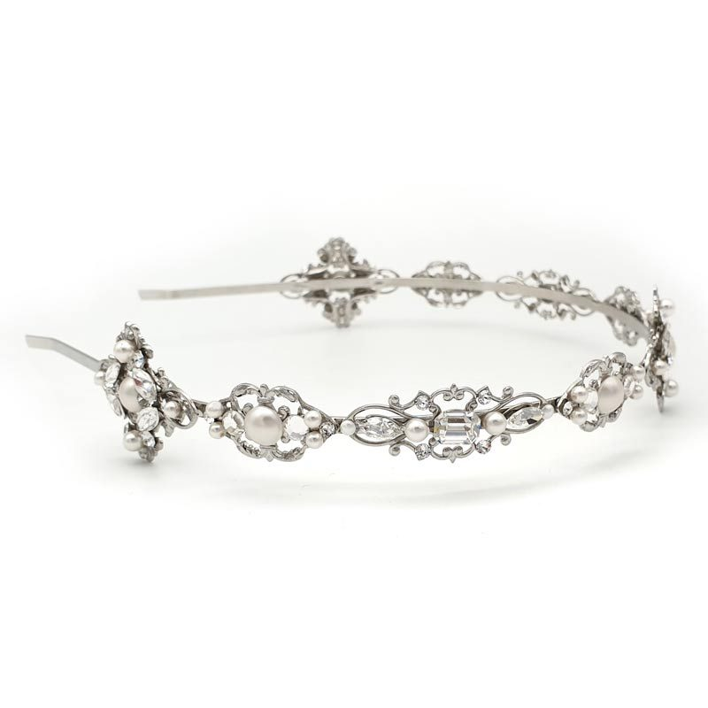 pearl and crystal headband