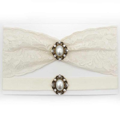 ivory lace bridal garter set