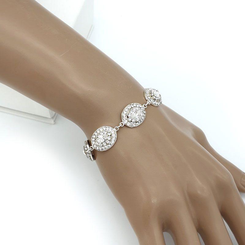 Silver Swarovski crystal bracelet