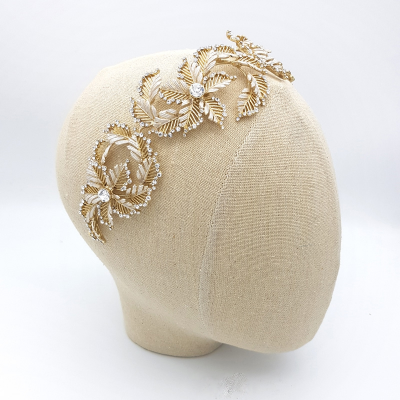 Gold crystal statement headband