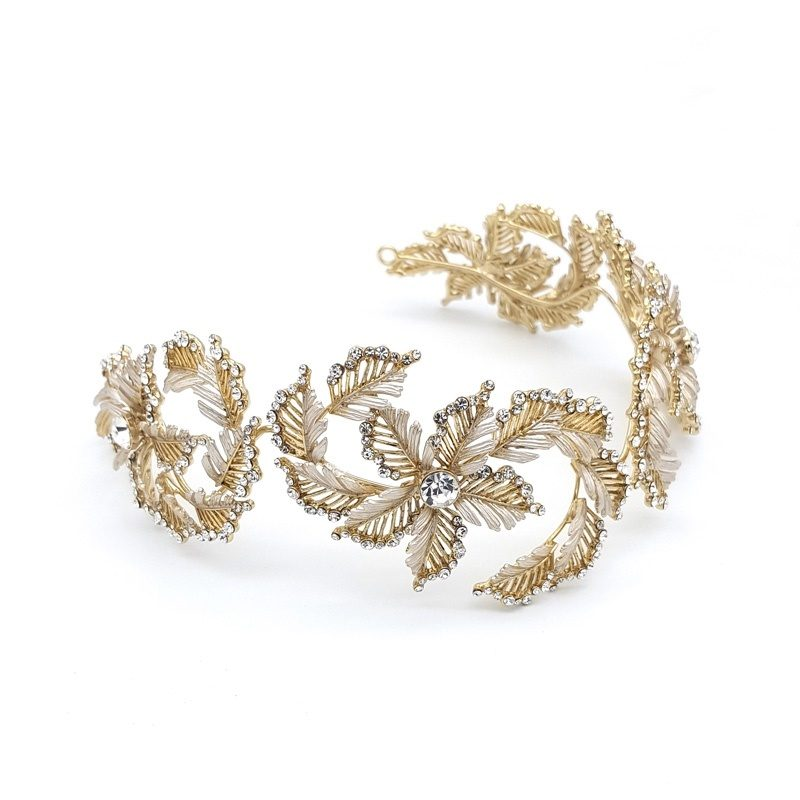 Gold Diamonte bridal headband