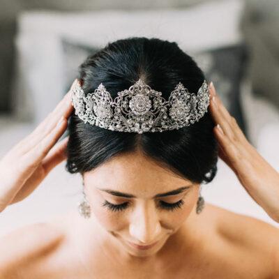 Crystal bespoke bridal tiara