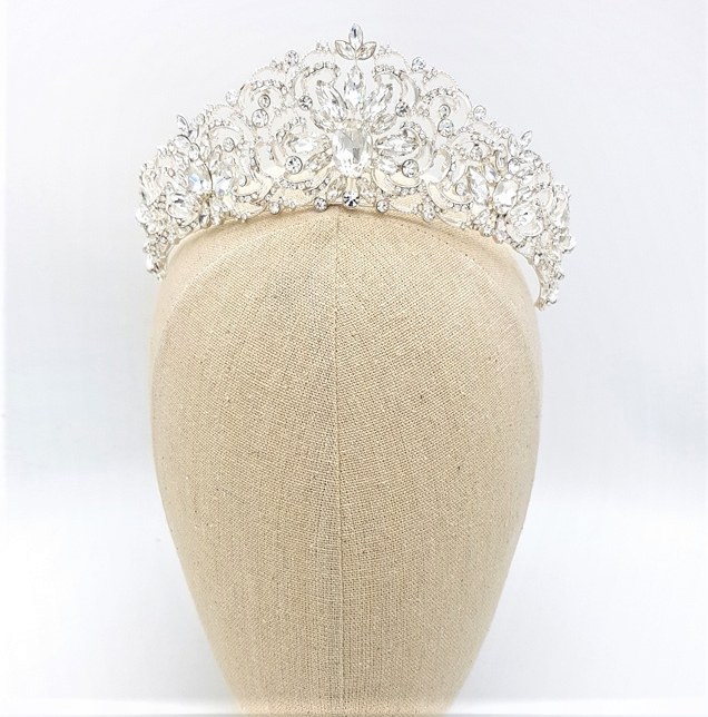 Silver bridal crown