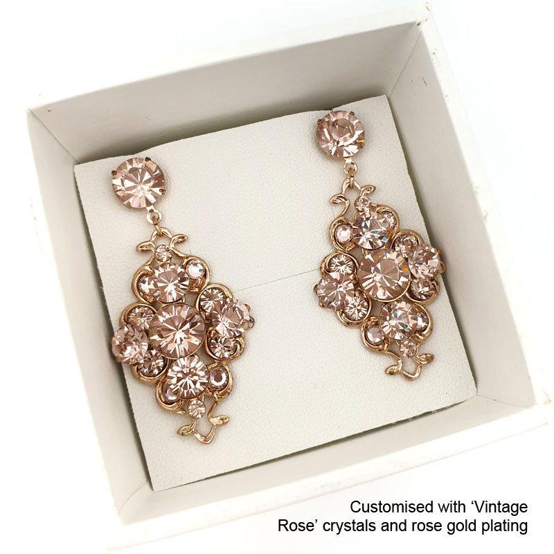 'Emma' Swarovski Drop Earrings (Silver/Gold/Rose Gold)