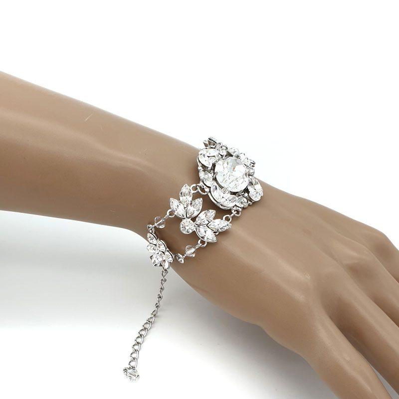Swarovski crystal statement bracelet