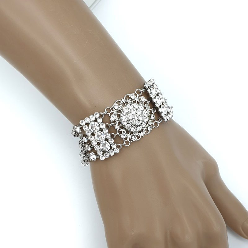Swarovski crystal art deco bracelet