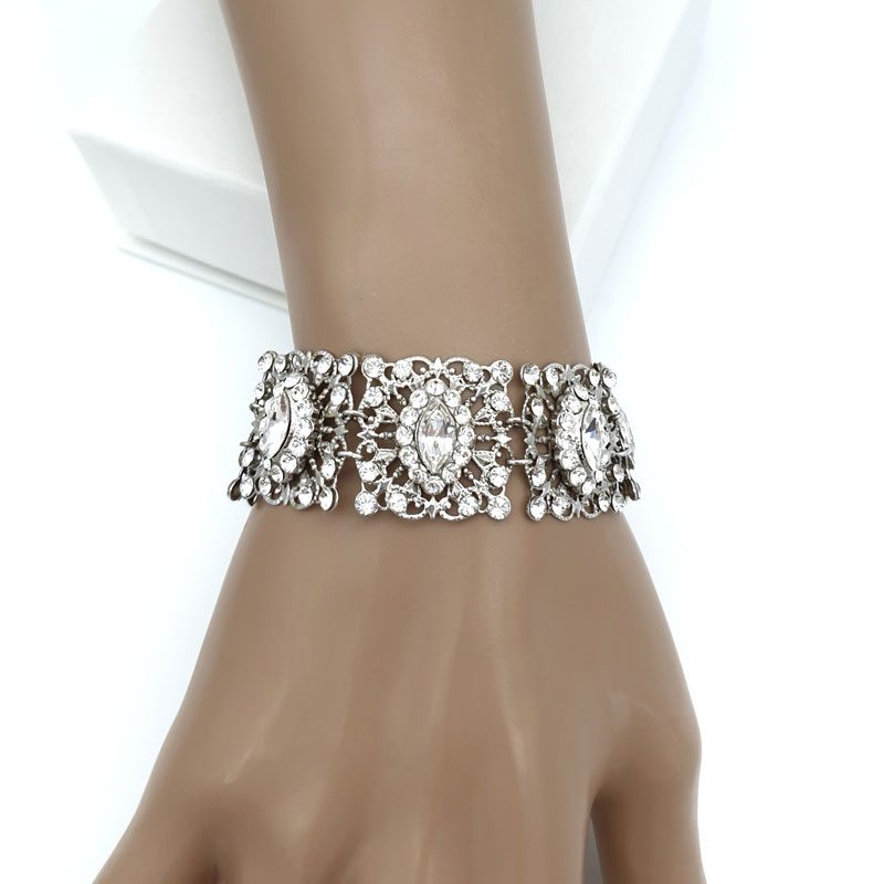 Swarovski crystal vintage bridal bracelet