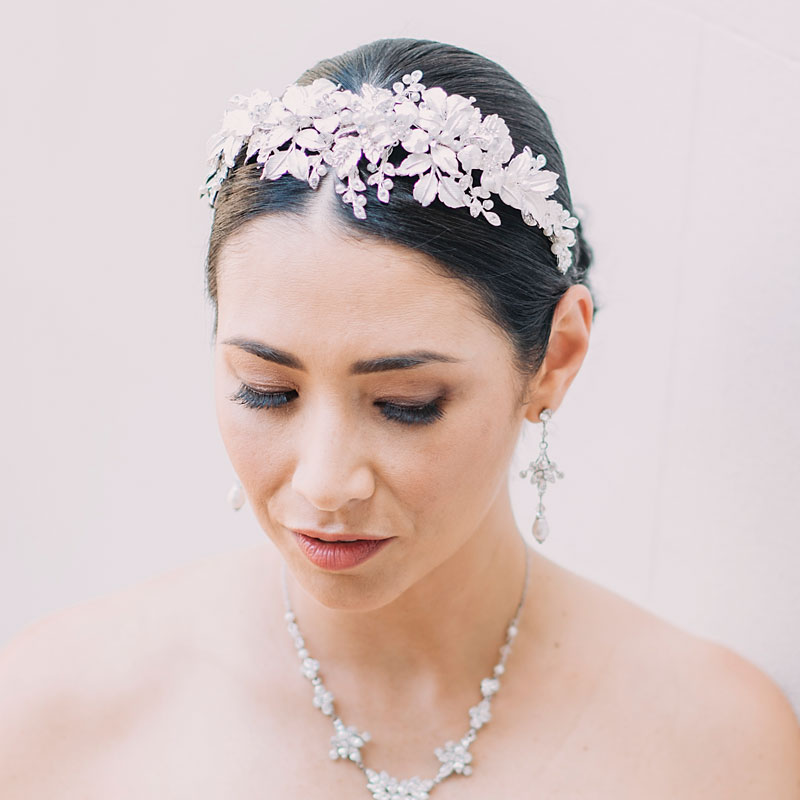 floral statement bridal headband