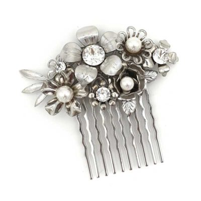 Floral bespoke hair comb