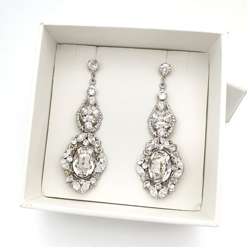 Shop Large Bridal Earrings