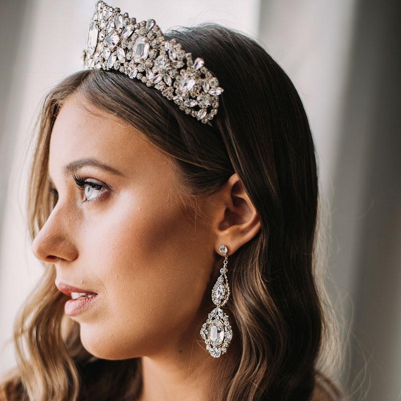 Bespoke statement bridal earrings