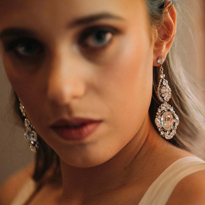 Crystal statement bridal earrrings