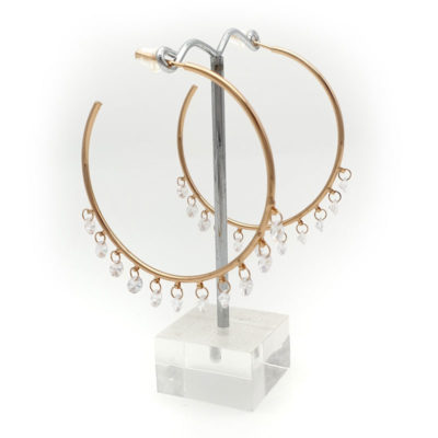 rose gold bridal hoops
