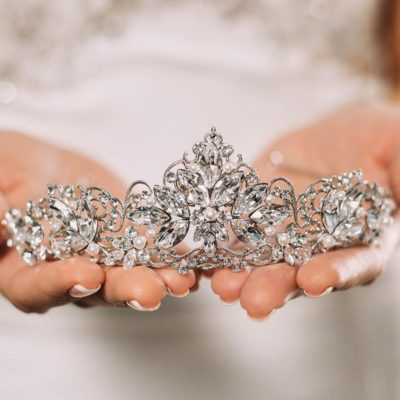 Pearl and crystal bespoke bridal tiara