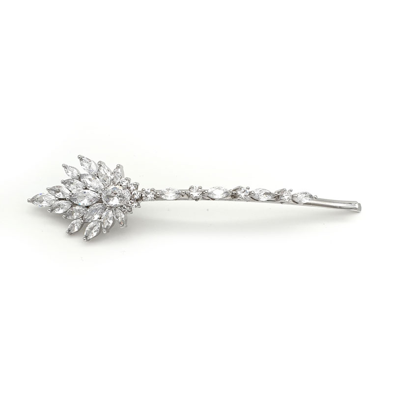 Silver curved hair pin