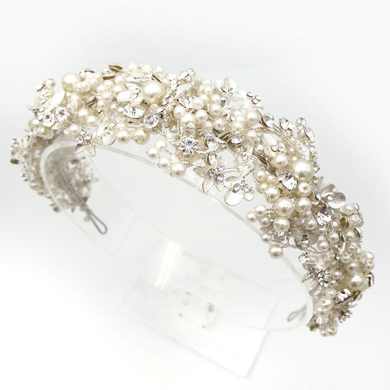 Pearl bridal heaqdband