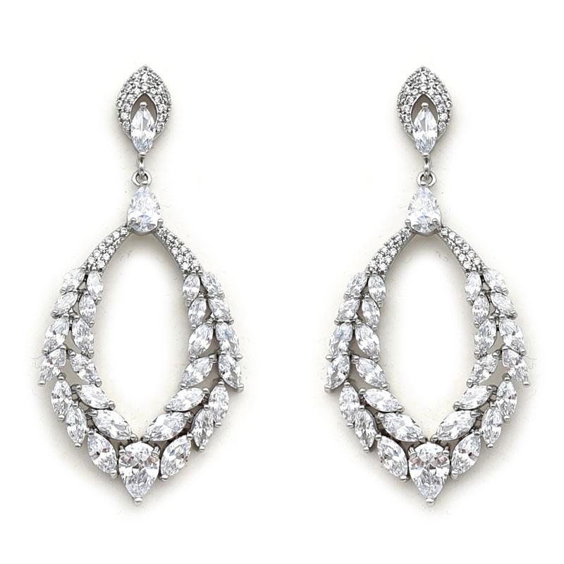 Silver Bohemian bridal earrings