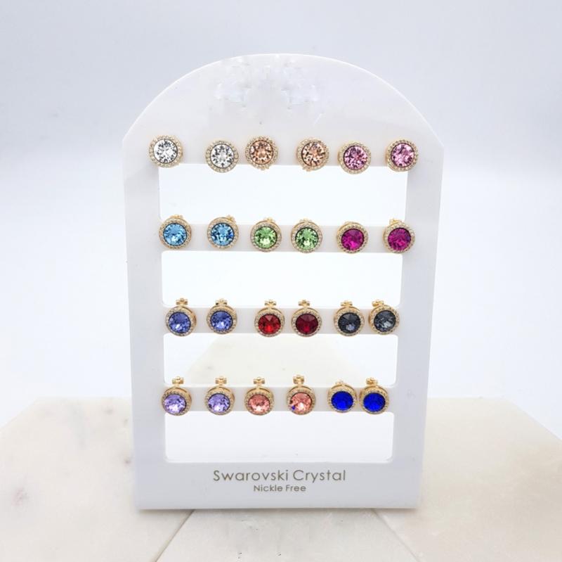 Swarovski crystal clip on earrings