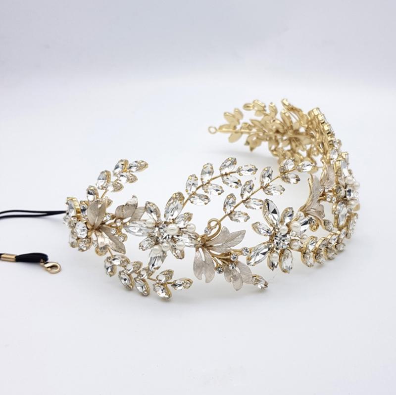 Gold statement pearl headband