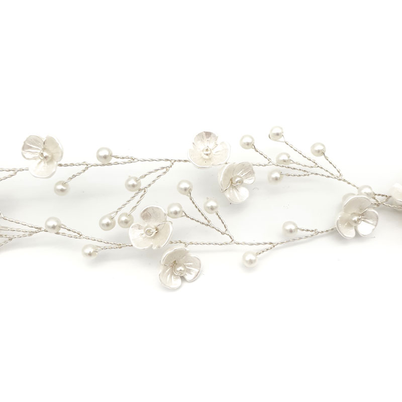 blossom and pearl hair vine