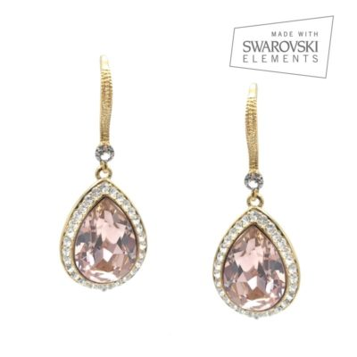 Vintage rose crystal earrings