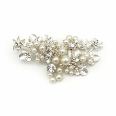 Silver Pearl Hair Clip