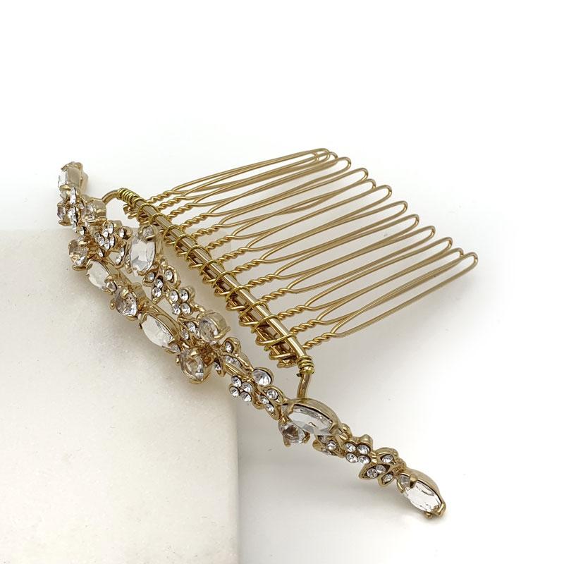 Gold crystal flower girl tiara