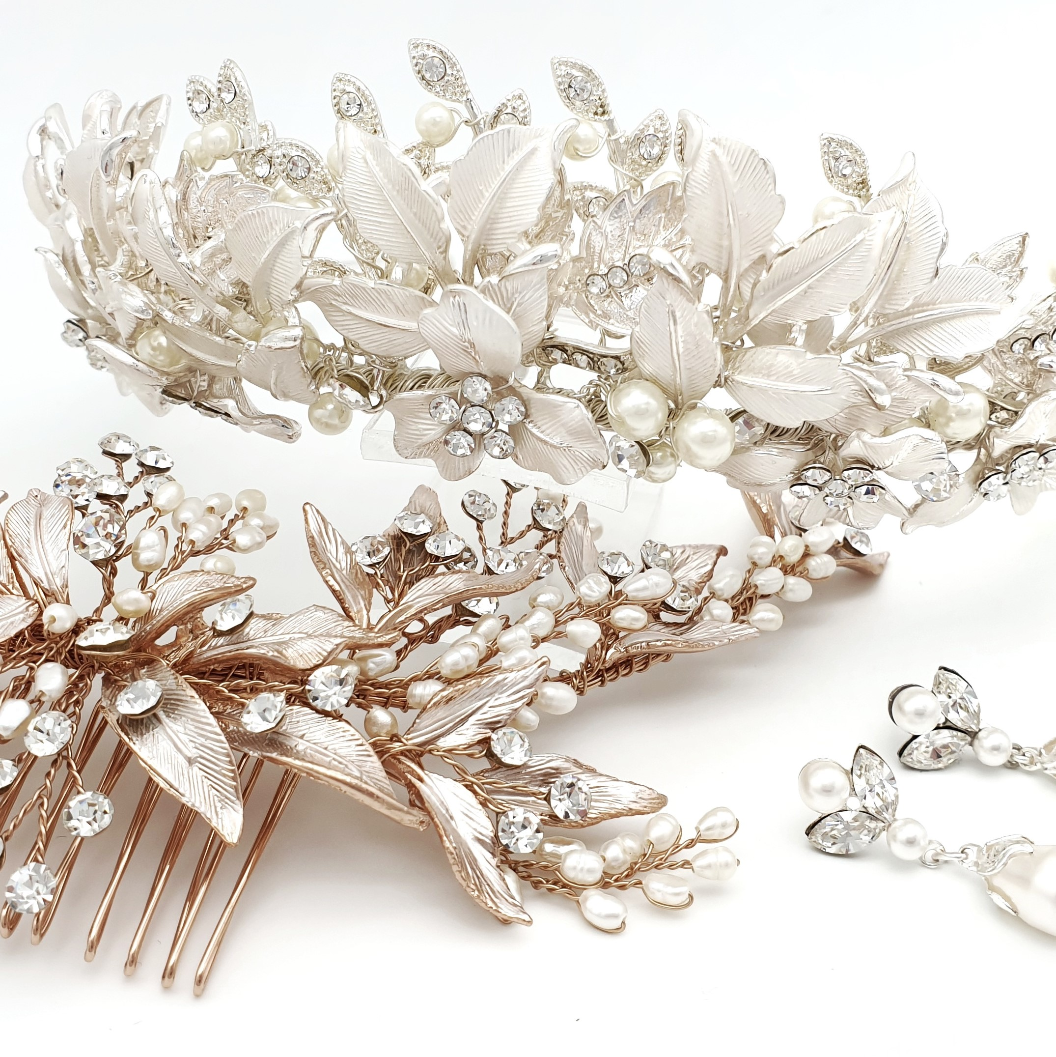 Pearl bridal accessories