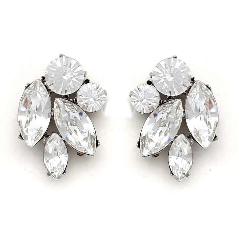 Clear crystal bridal studs