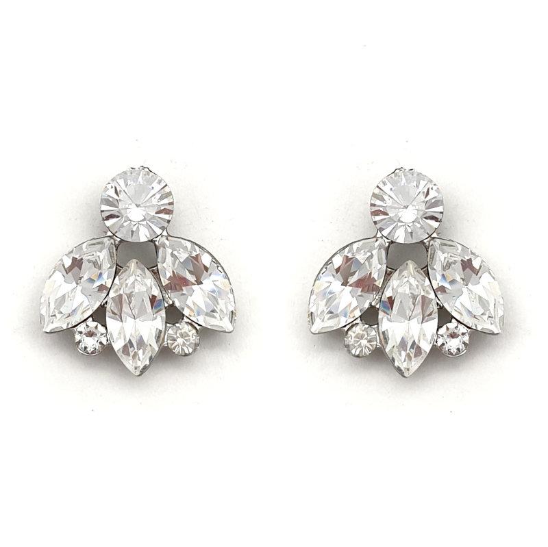 Swarovski crystal bridal stud earrings