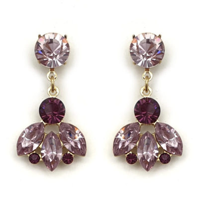 Amethyst crystal drop earrings