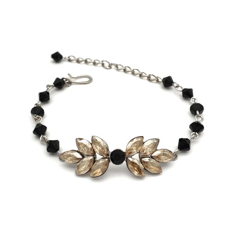 Black and golden shadow crystal bracelet