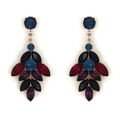 Dark crystal statement drop earrings