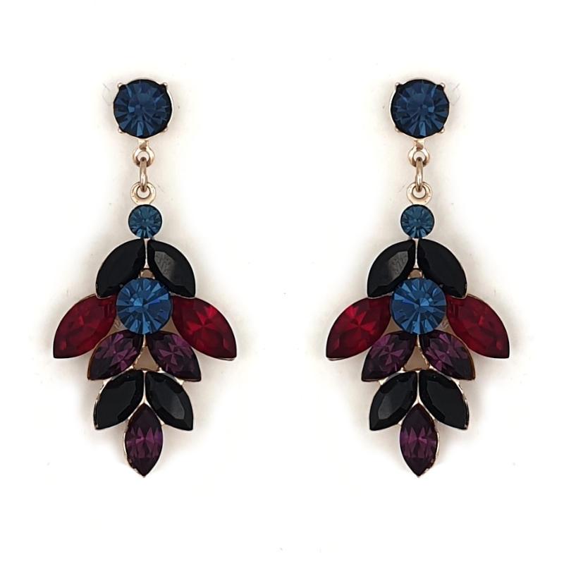 Dark crystal statement drop earrings