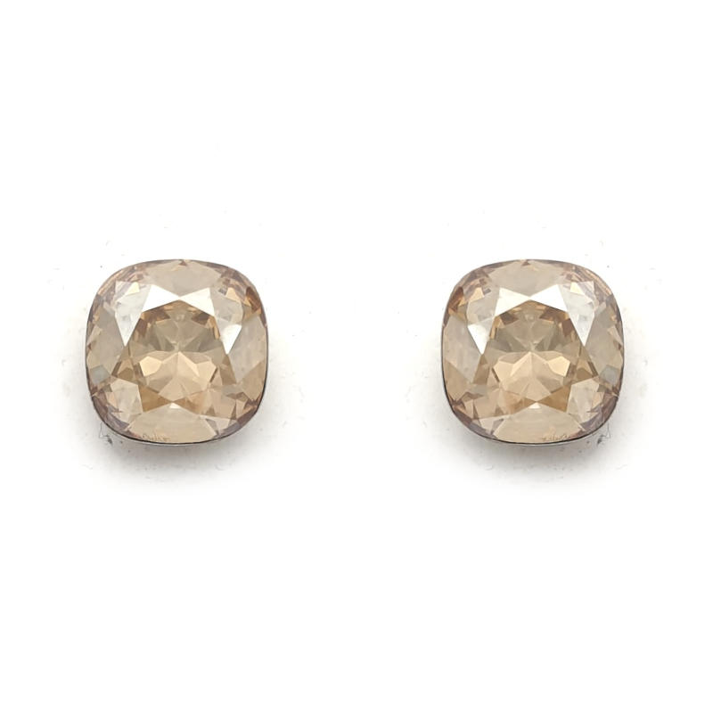 Golden shadow Swarovski crystal studs