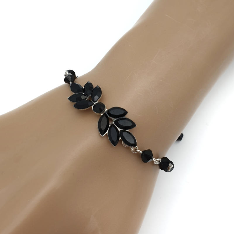 Jet Black crystal bracelet