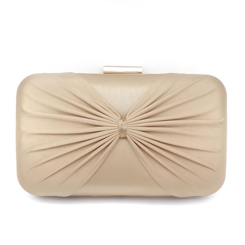 Gold satin bridal clutch