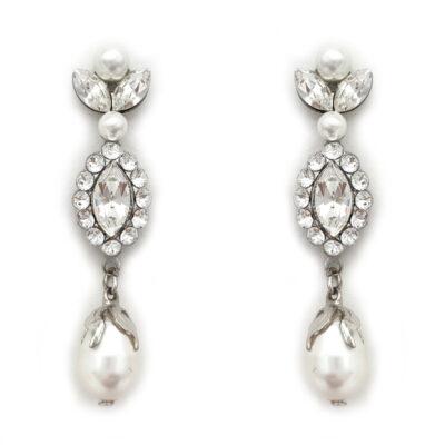 Bespoke pearl and crystal earrings