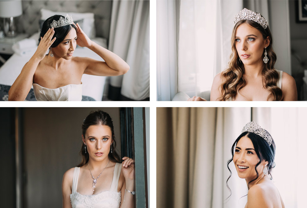 Brides and their bridal accessories from our collections