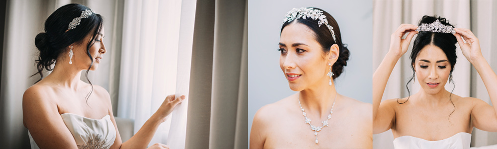 Tara wearing jewellery from our bridal collections