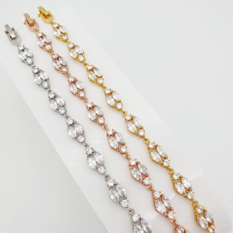 Art deco cz bridal bracelet
