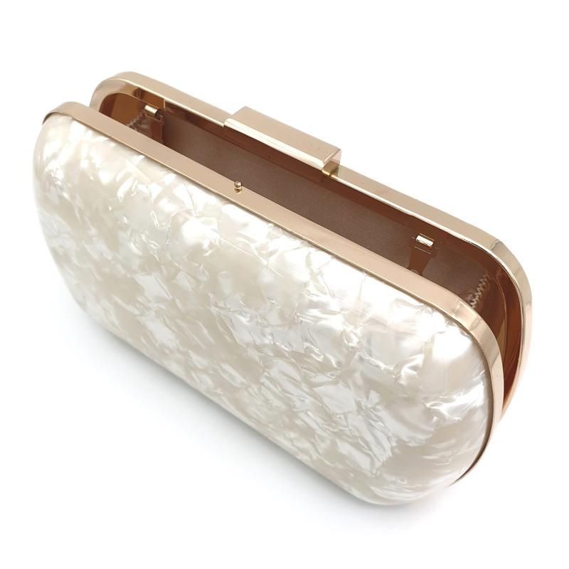 Pearl acrylic clutch