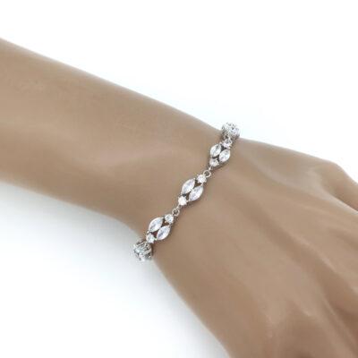 Silver art deco tennis bracelet