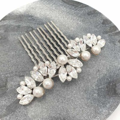 Crystal and Pearl bridal comb