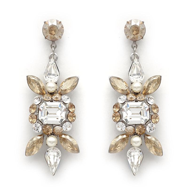 Crystal bespoke earrings