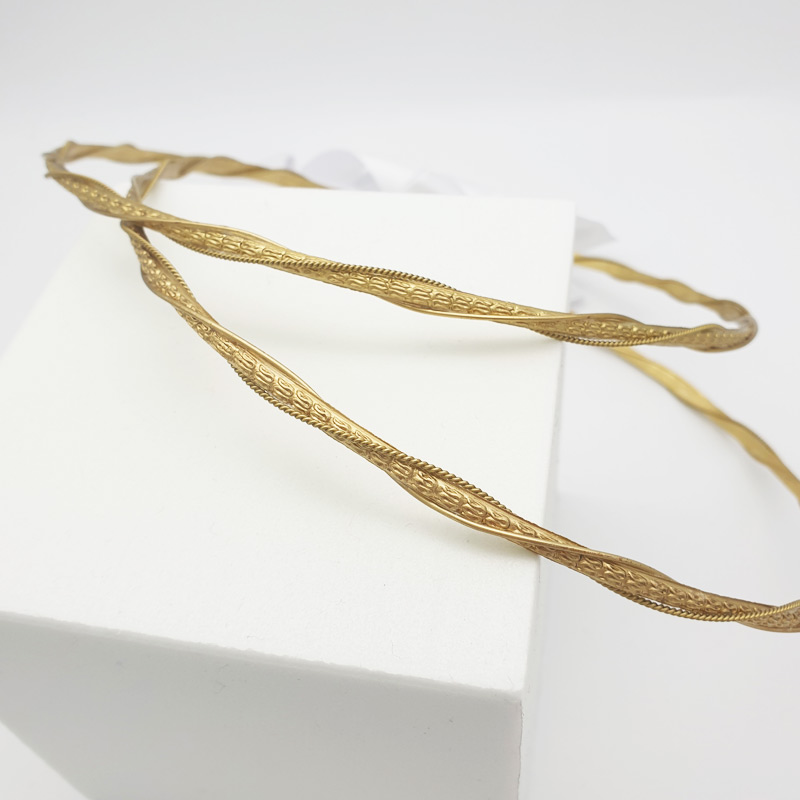 Gold Greek wedding stefana